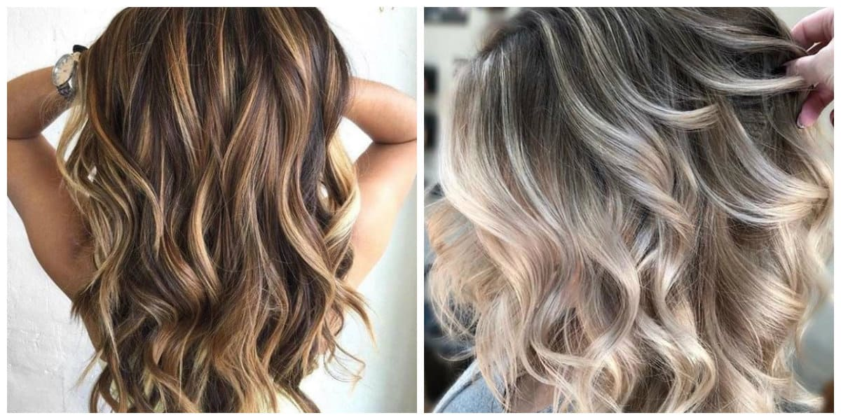 layered hair 2019, stylish coloring technique for layered haircuts 2019