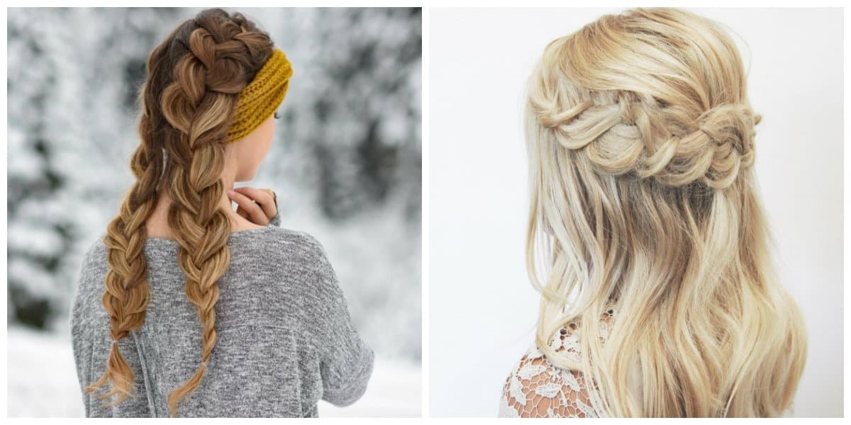 long hairstyles for women 2019, stylish loose weaves and braids