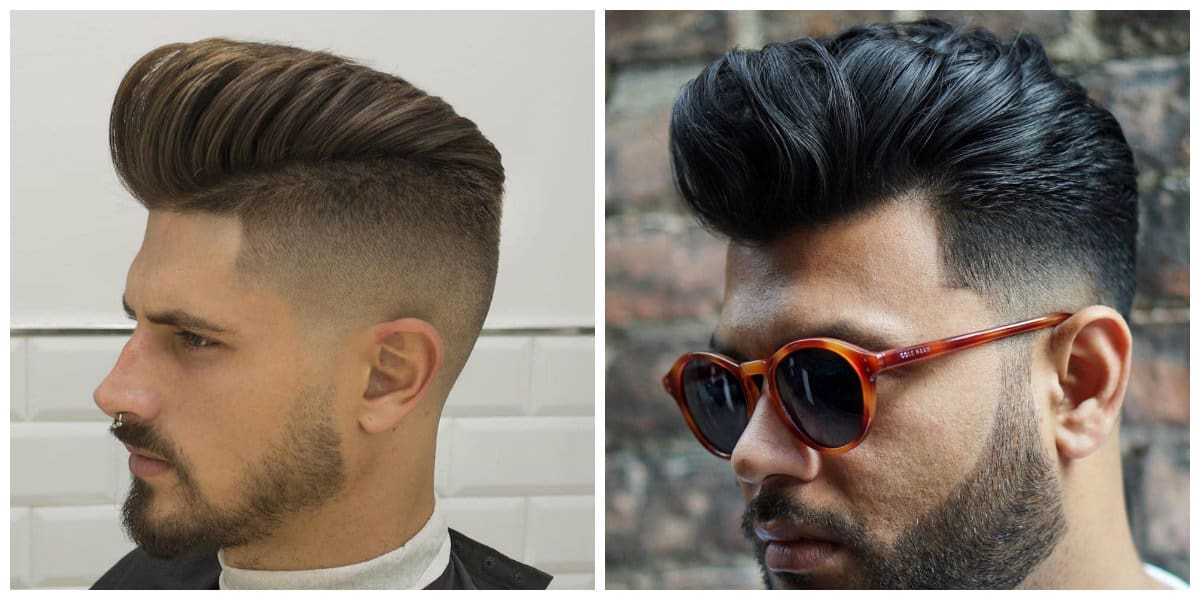 mens haircuts 2019, stylish pompadour men hairstyle 2019