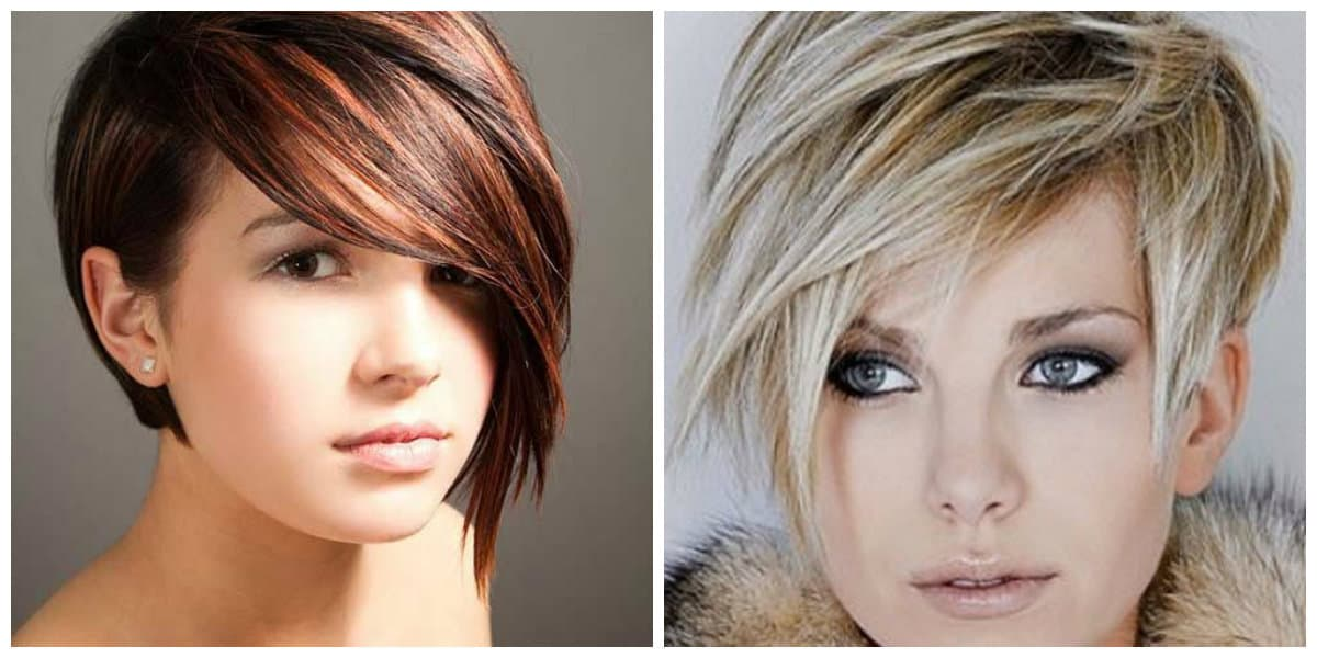 pixie haircuts 2019, stylish haircut pixie with long bangs