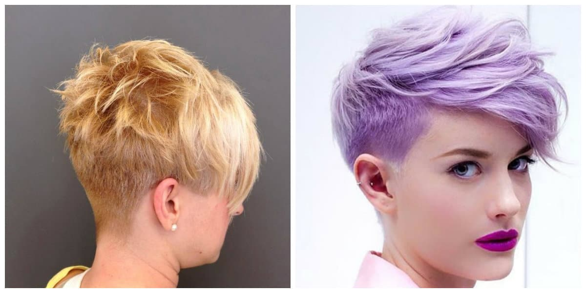 pixie haircuts 2019, stylish haircut pixie with shaved nape
