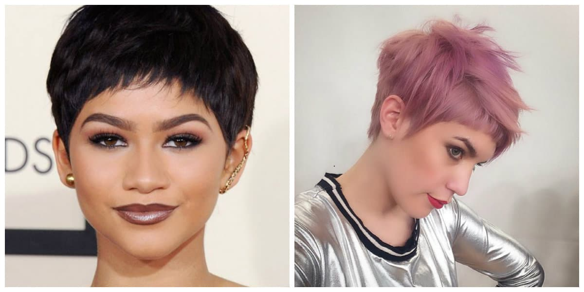 pixie haircuts 2019, stylish haircut pixie with short bang