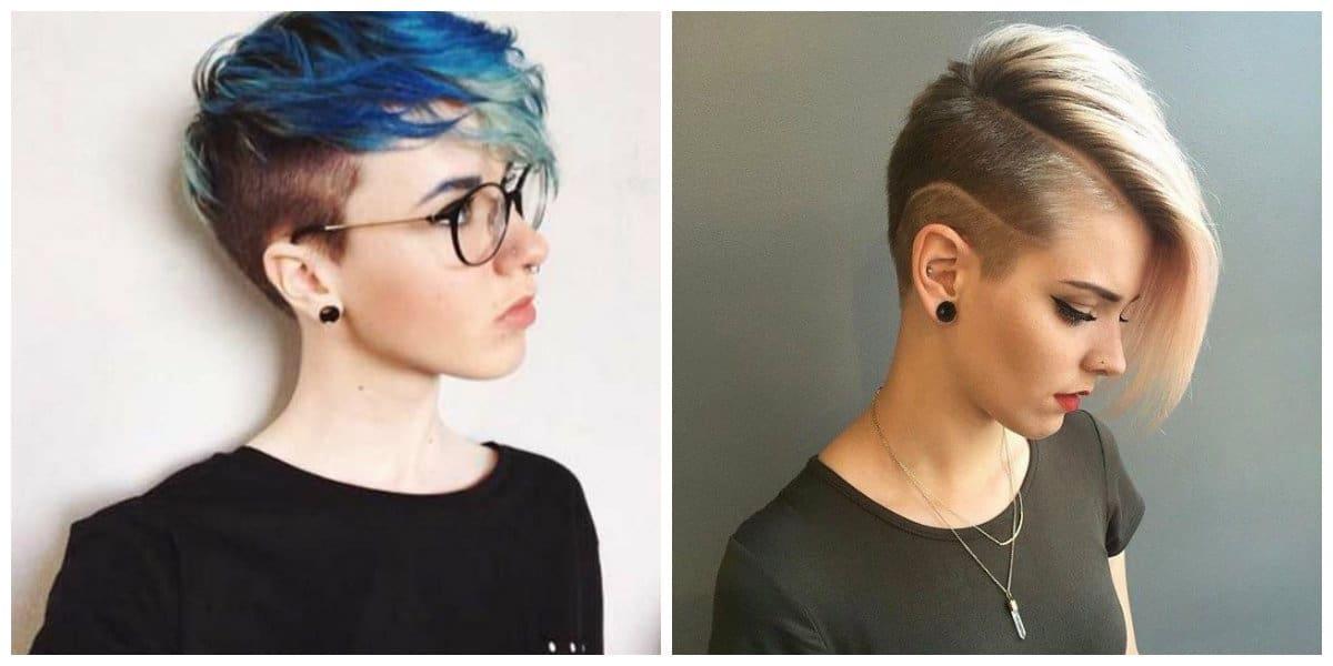pixie haircuts 2019, stylish sidecut pixie haircut 2019