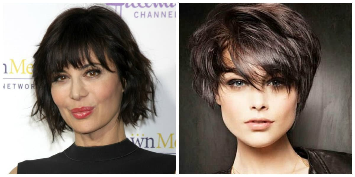 short haircuts for oval faces 2019, elongated bang for oval face, arch bang for oval face