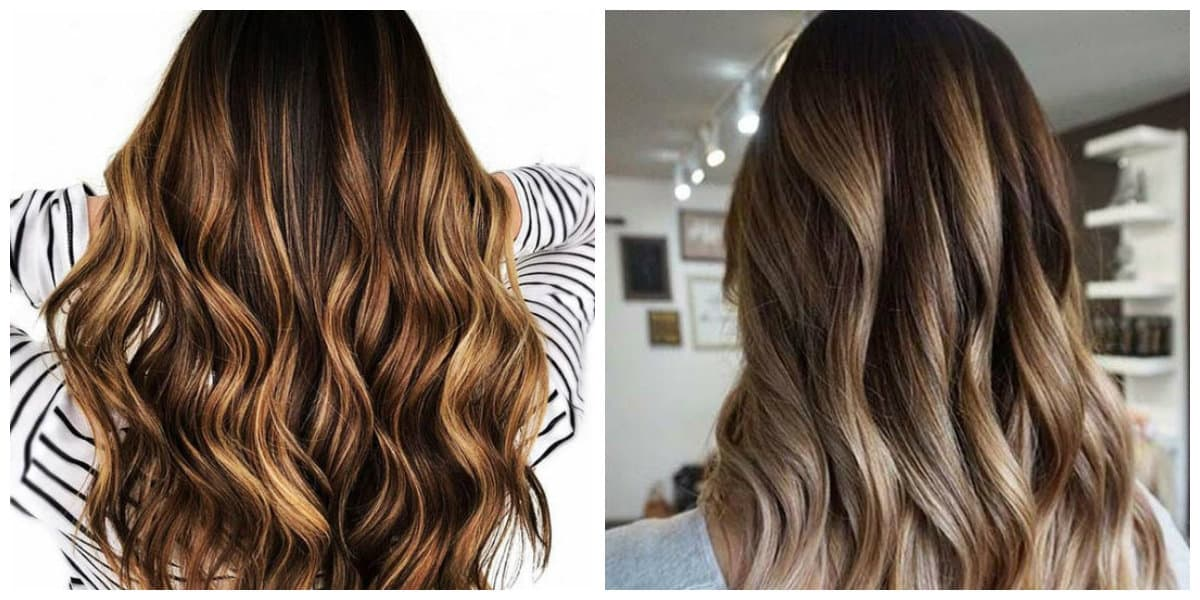 balayage hair color 2019, chestnut and bronze balayage hair, bronze and amber balayage hair