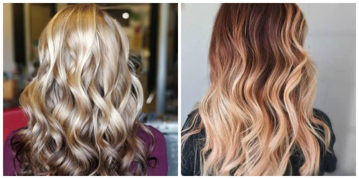 balayage hair color 2019, stylish reverse balayage hair 2019