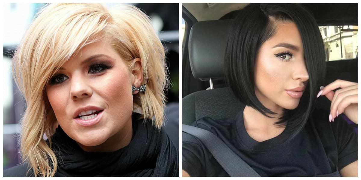 bob haircut 2019, fashionable asymmetrical bob haircut 2019