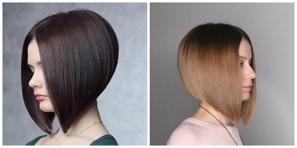 bob haircut 2019, fashionable haircut bob on leg 2019