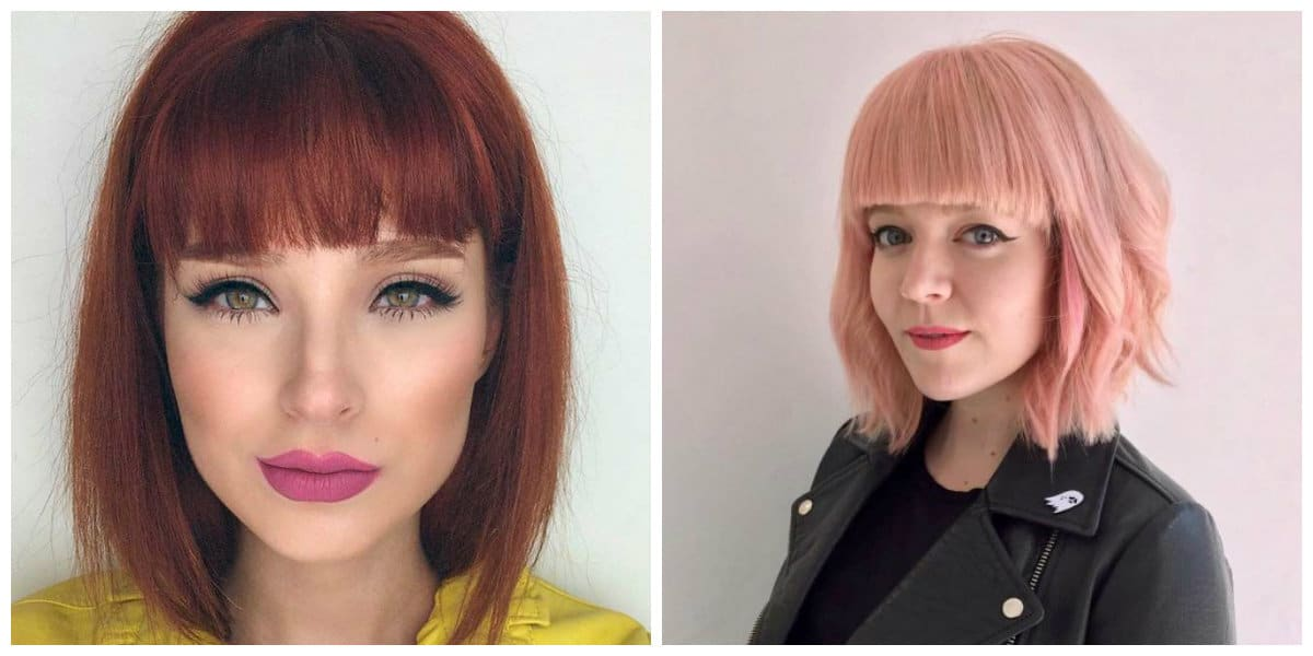 bob haircut 2019, stylish bob haircut with bangs 2019