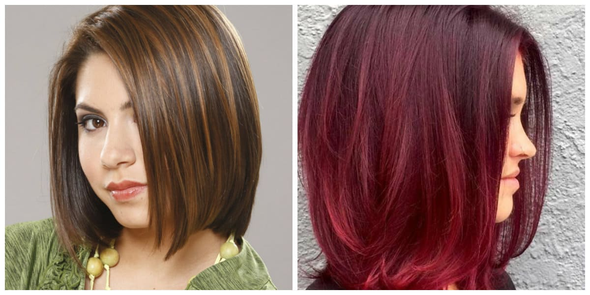 bob haircut 2019, chocolate color bob haircut, red color bob haircut