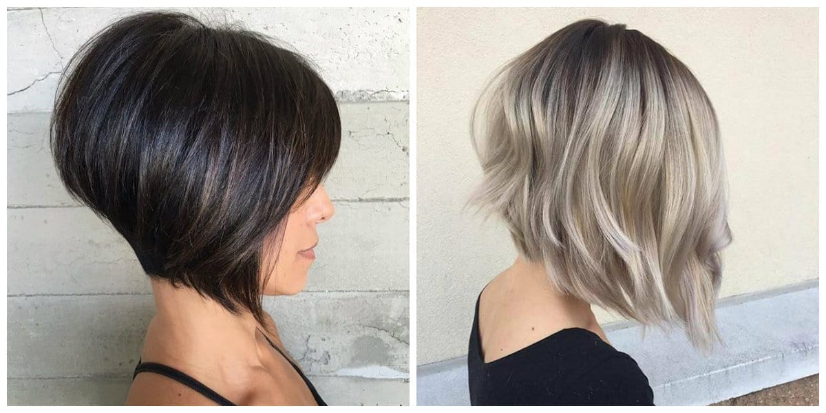 bob haircut 2019, fashionable layered shortened bob haircut 2019