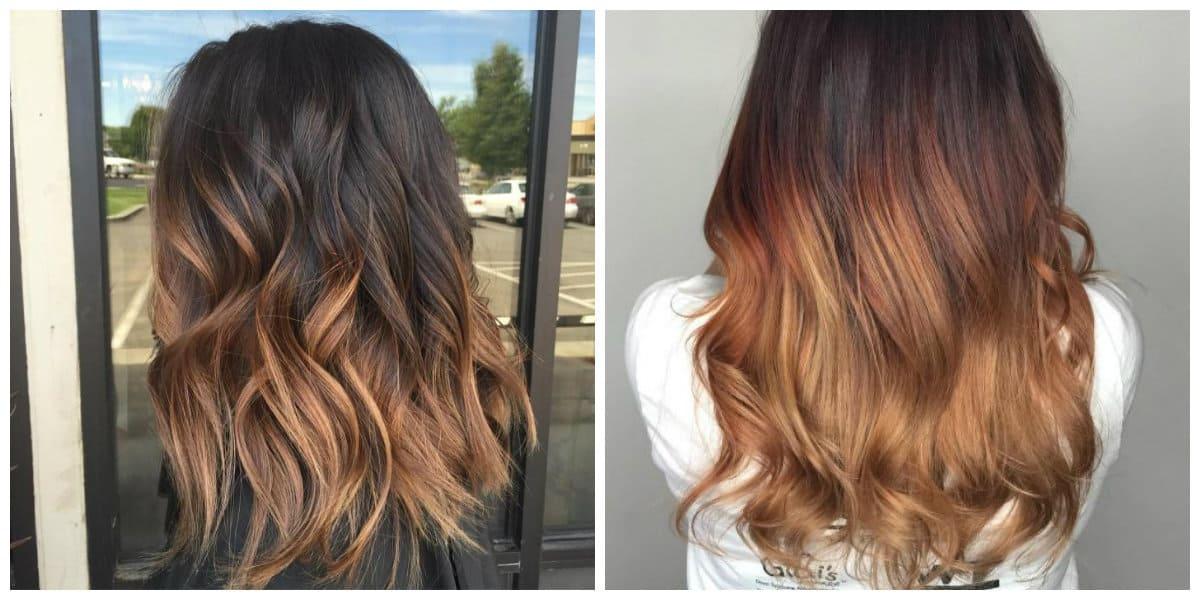 caramel hair 2019, caramel ombre hair coloring technique 2019