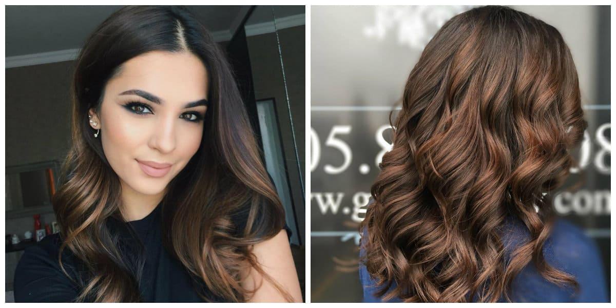caramel hair 2019, stylish dark caramel hair color 2019