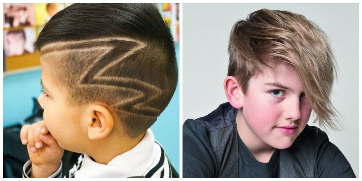 cool haircuts for boys 2019, asymmetrical haircuts for boys, haircuts with unusual geometry