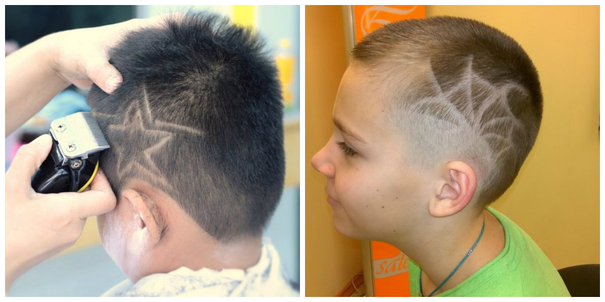 cool haircuts for boys 2019, haircuts with web, haircuts with stars
