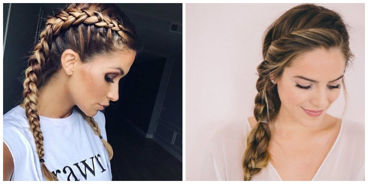 cool haircuts for girls 2019, stylish hairstyles with braids 2019