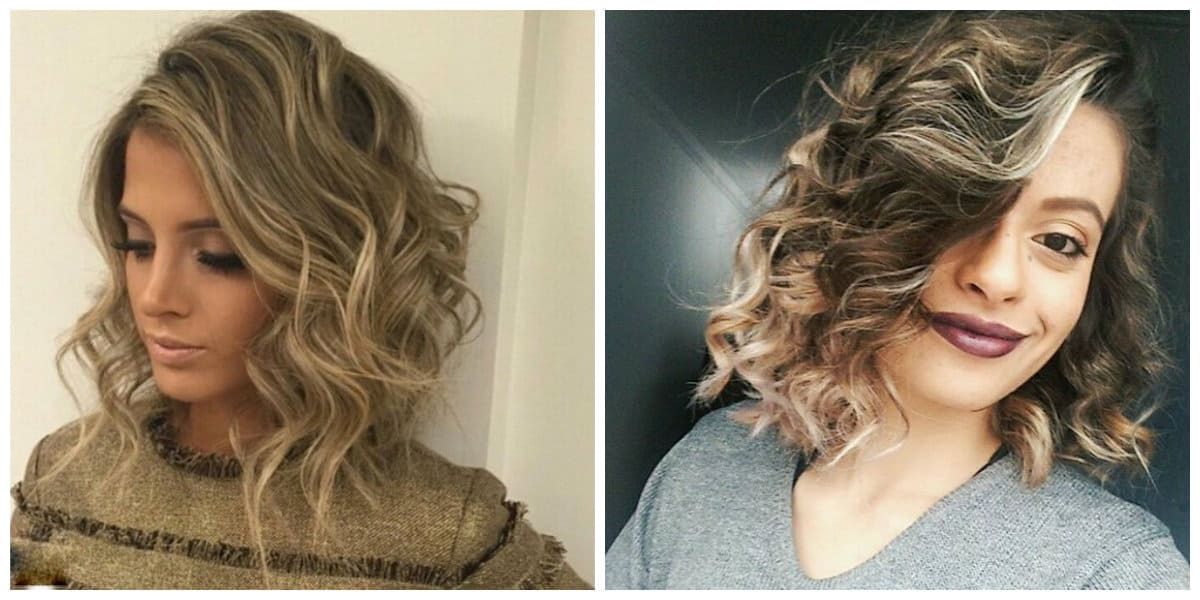 curly hairstyles 2019, fashionable curly messy bob hairstyle
