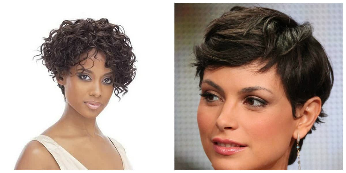 curly hairstyles 2019, curly asymmetrical pixie, curly short bob