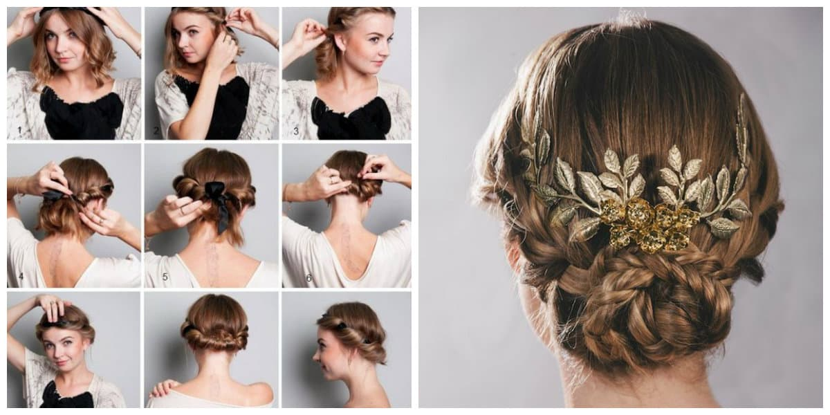 easy hairstyles 2019, fashionable Greek knot hairstyle 2019