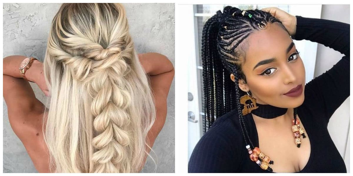 easy hairstyles 2019, stylish hairstyle ideas with weaving 2019