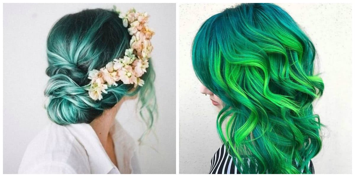 green hair 2019, fashionable shades of green hair color 2019
