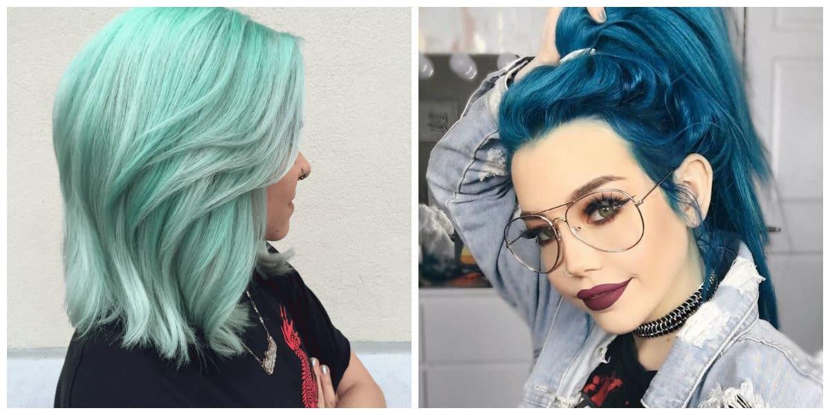 green hair 2019, mint hair color 2019, aquamarine hair color 2019