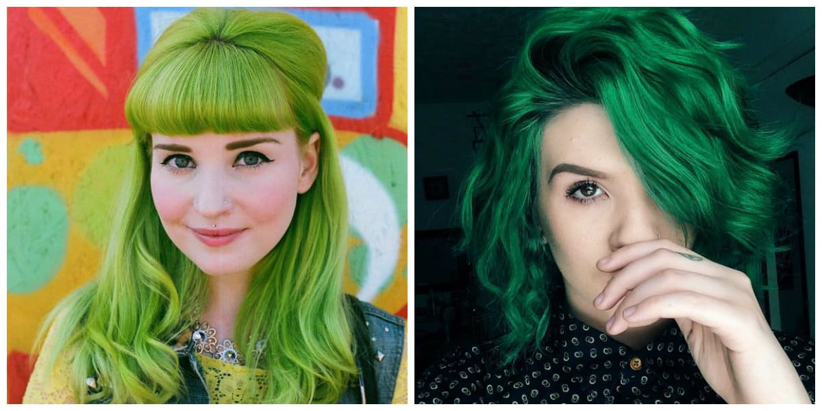 green hair 2019, stylish trends and ideas for green hair staining
