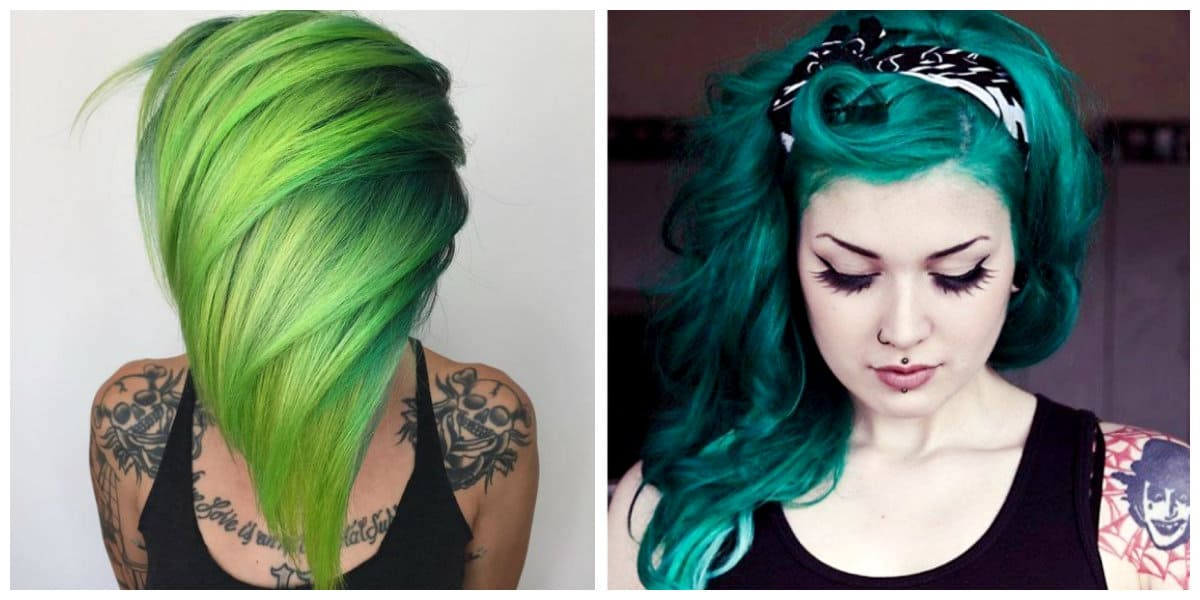 Green Hair 2019 Green Hair Color 2019 Shades From Lime To