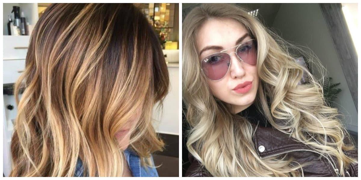 haircut 2019, stylish balayage hairstyling, shatush hairstyling