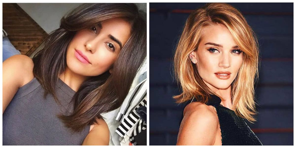 haircuts for long hair 2019, stylish long bob with long side bangs