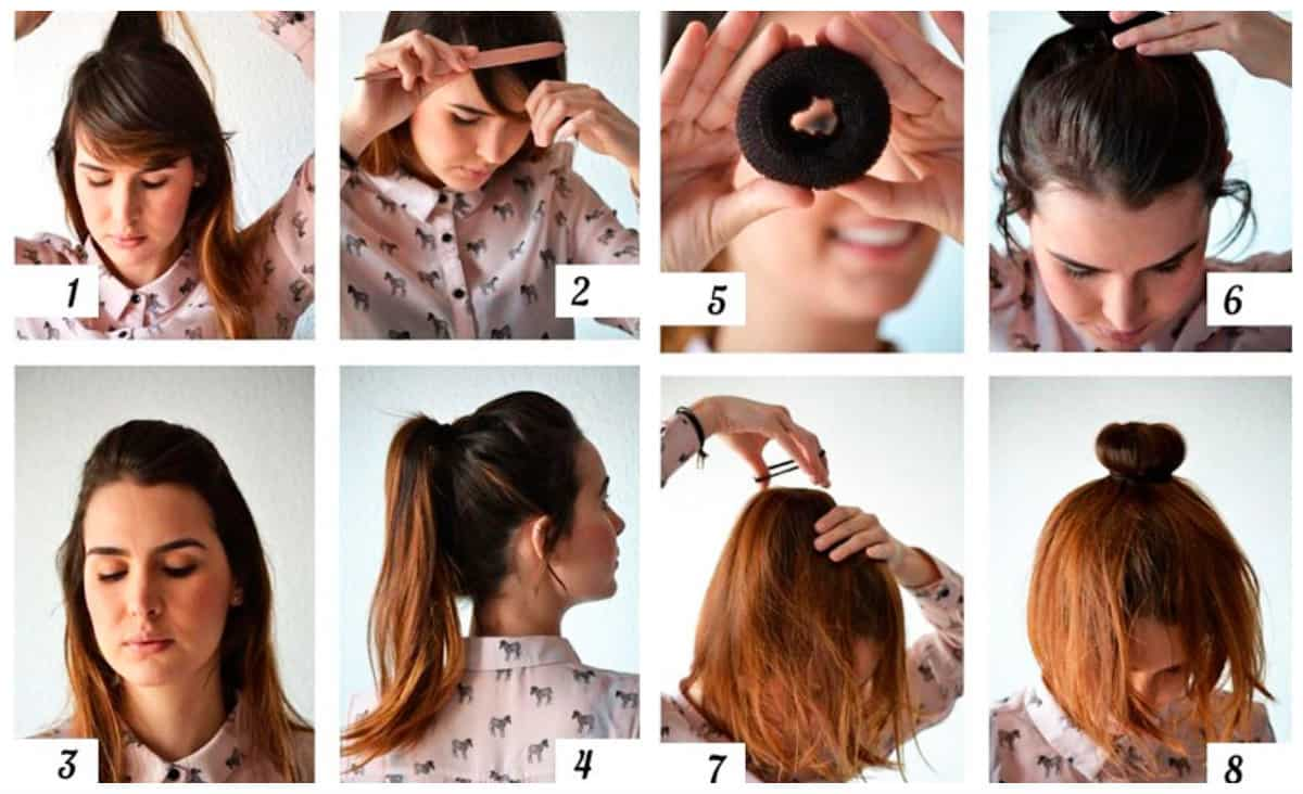 hairstyle for teenage girl 2019, stylish bun with bagel hairstyle