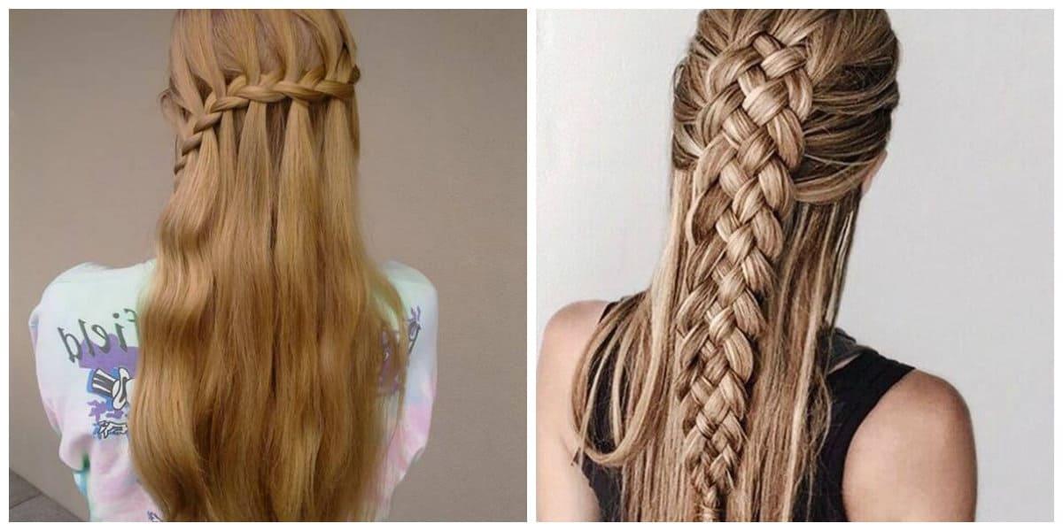 hairstyle for teenage girl 2019, stylish french braid hairdo 2019
