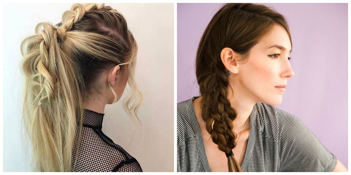hairstyle for teenage girl 2019, fashionable updo with tail 2019