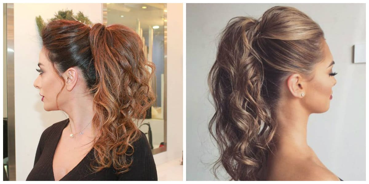 medium curly hairstyles 2019, fashionable curly tail