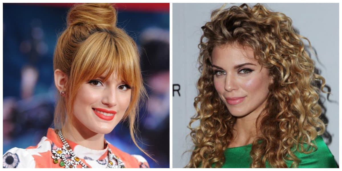 medium hair with bangs 2019, selection of medium updo with bangs by hair type