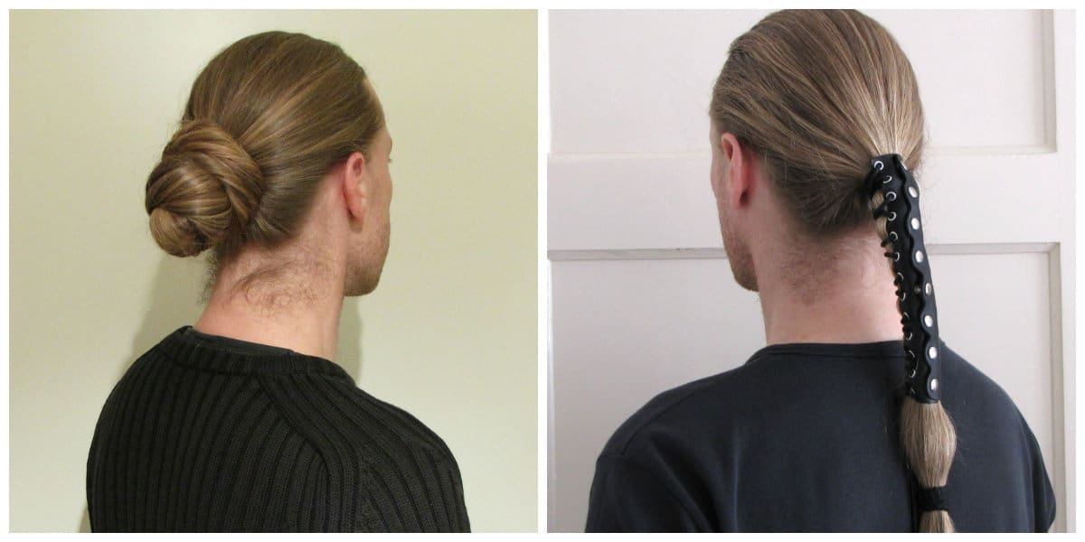men long hairstyles 2019, stylish men's hairstyles with tails