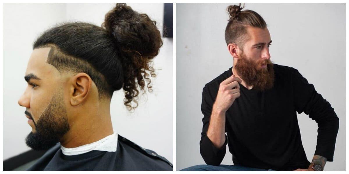 men long hairstyles 2019, stylish man bun, stylish top knot men's hairstyle