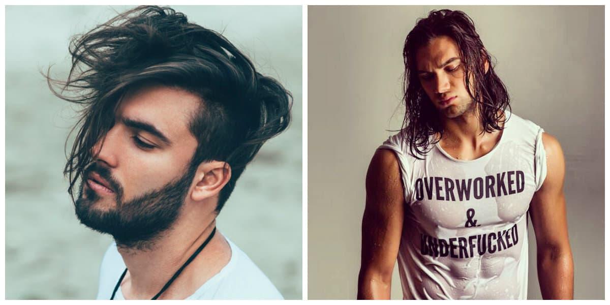 men long hairstyles 2019, stylish ideas for men's long hairdos 2019