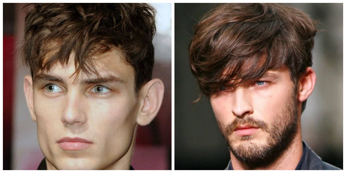 men short hairstyles 2019, short men's updos with long bangs