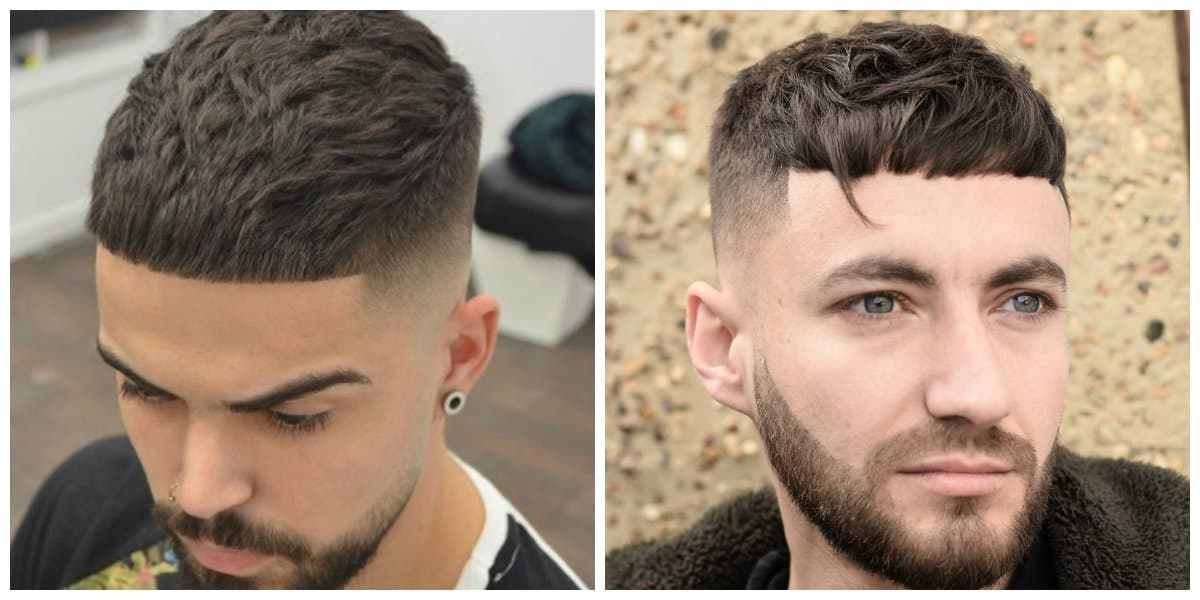 men short hairstyles 2019, short men's updos with short bangs