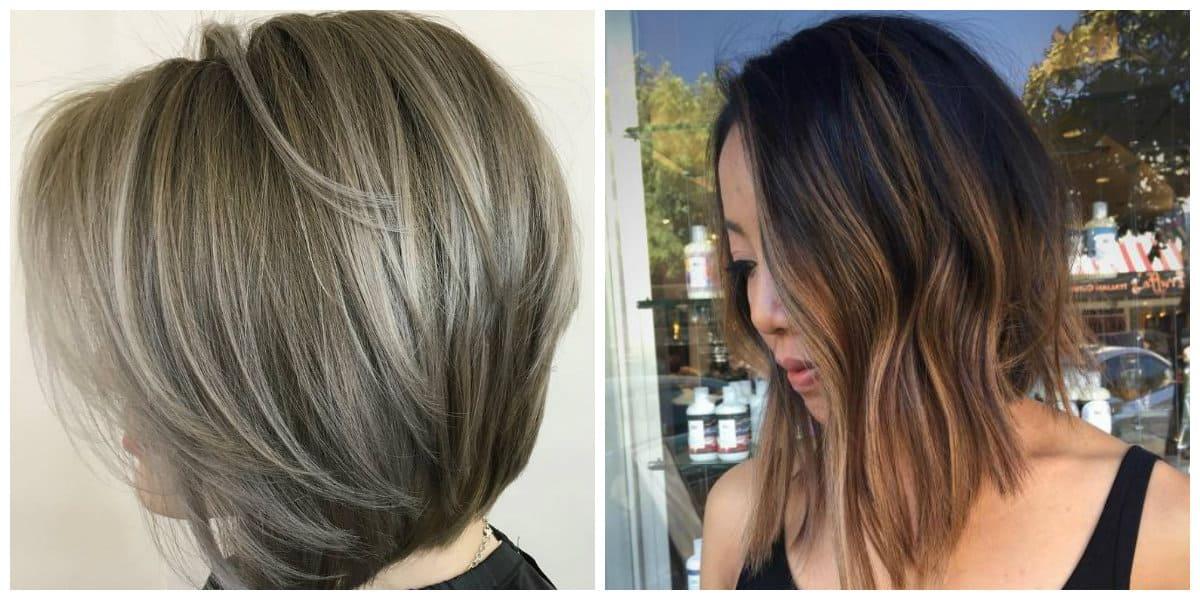 mid length haircuts 2019, layered bob haircut, asymmetrical bob haircut
