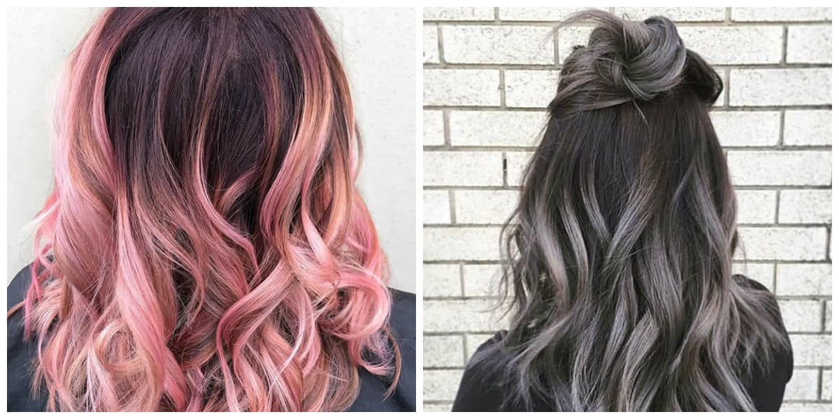 ombre hair color 2019, stylish colors for coloring hair in ombre technique 2019