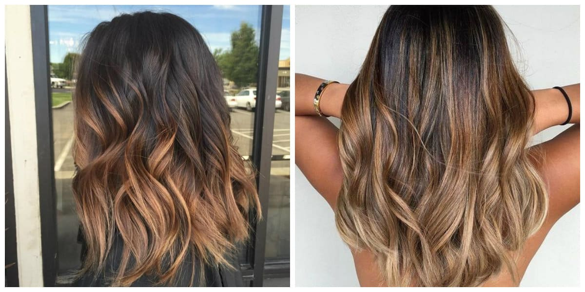 ombre hair color 2019, stylish ombre on brown hair 2019
