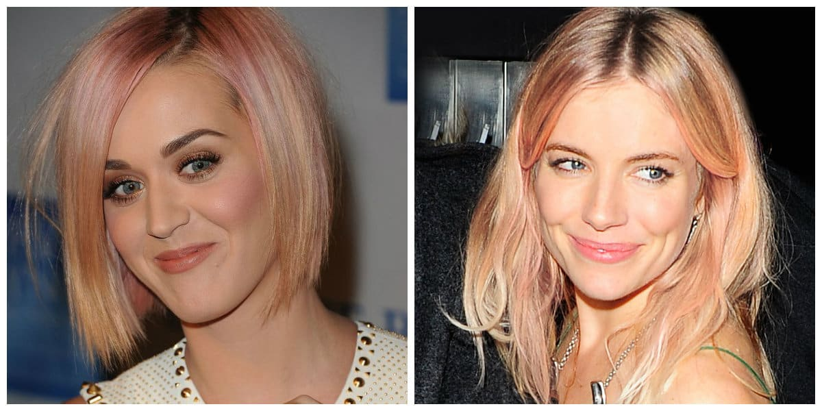 rose gold hair 2019, celebrities with rose gold hair 2019