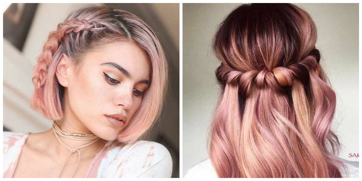 rose gold hair 2019, features and trends of rose gold hair 2019