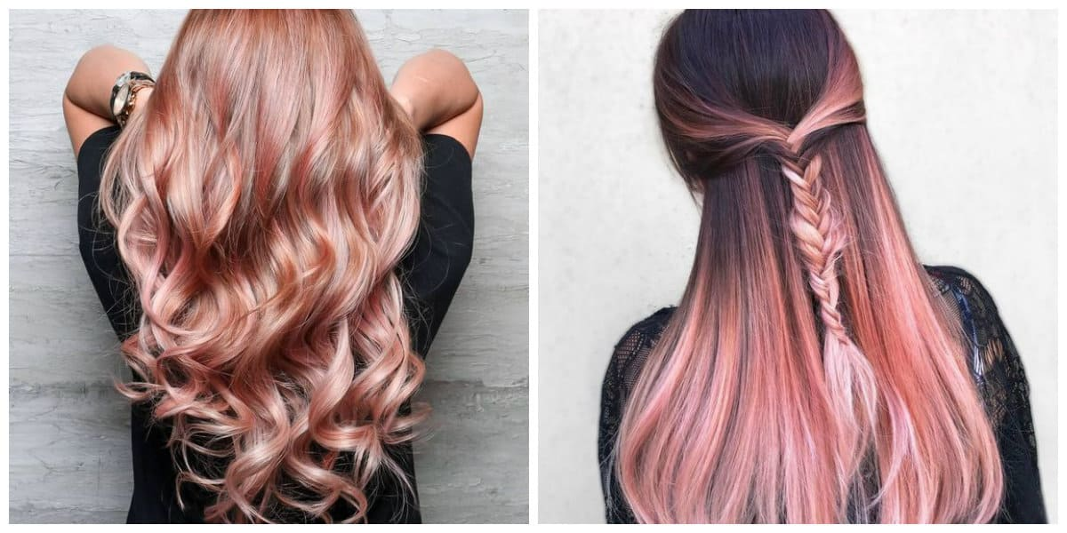 rose gold hair 2019, hair coloring trends and tips in rose gold color