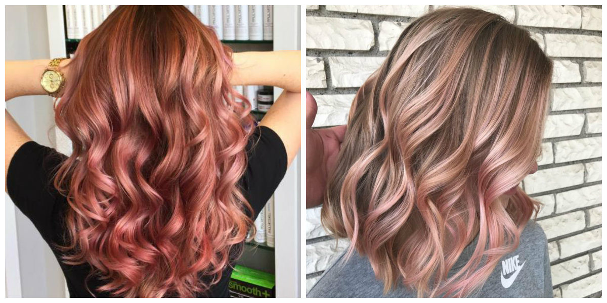 rose gold hair 2019, fashionable shades of rose gold hair color