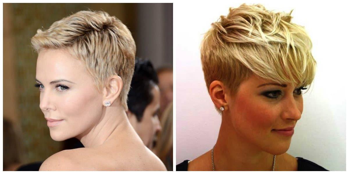 short haircuts for thin hair 2019, stylish garcon haircut for thin hair