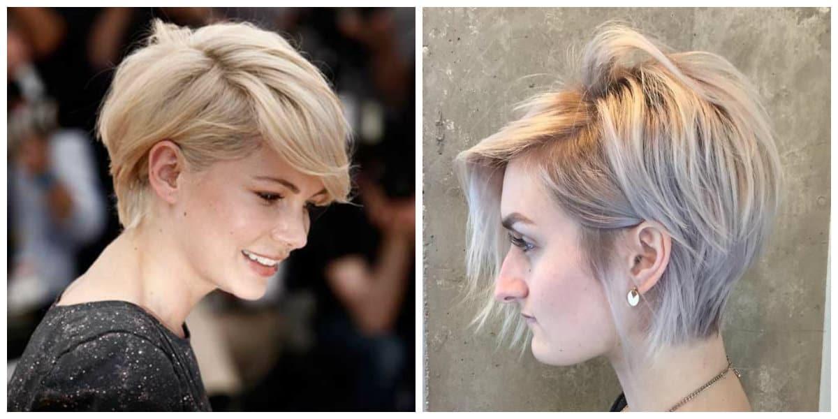 short haircuts for thin hair 2019, stylish pixie bob haircut for thin hair