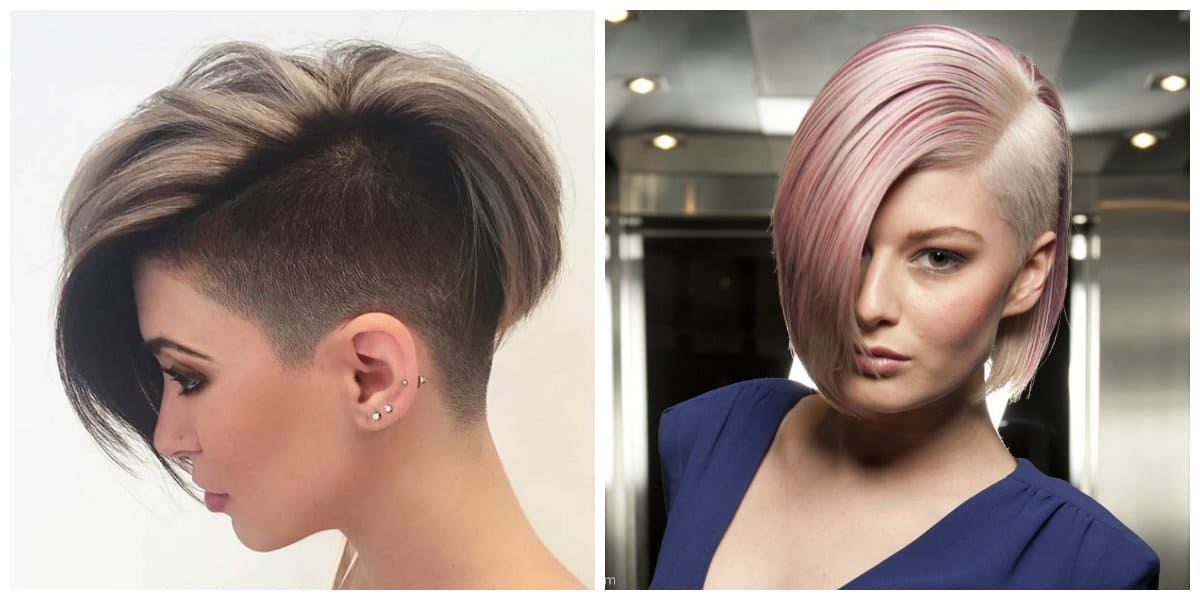 short haircuts for thin hair 2019, stylish shaved bob haircut for thin hair